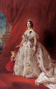 Isabel II tal como la retrató el alemán Franz Xaver Winterharter a mediados de su reinado, en el año 1852. (Palacio Real de Madrid)