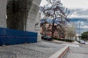 Lugar en que se levantaban el edificio de talleres de la Casa de la Moneda. (Fotografía: Mario Sánchez, 2016).
