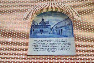Nicho arranque pasadizo San Andrés