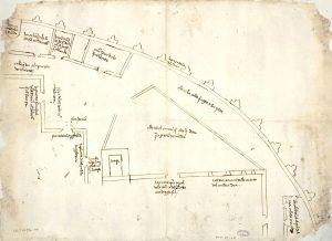 Plano permuta casas Pedro Laso de Castilla 1518