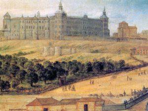 Pintura del siglo XVII del Real Alcázar de Madrid. Fuente: wikipedia.es