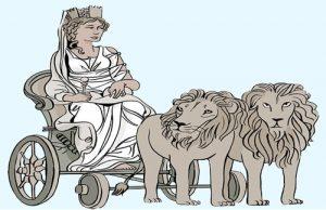 La diosa Cibeles en su carro tirado por leones. Fuente: http://micuentodecadadia.blogspot.com.es