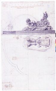 Diseño de la Fuente de Cibeles por Ventura Rodríguez (1777). Fuente: Memoria de Madrid